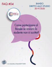 FAQ #04 – Come partecipare al Bando se ancora lo studente non è iscritto?