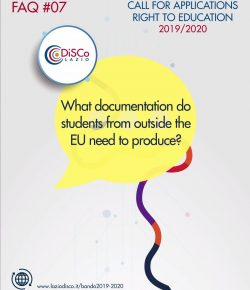 FAQ #07 – What documentation do students from outside the EU need to produce?