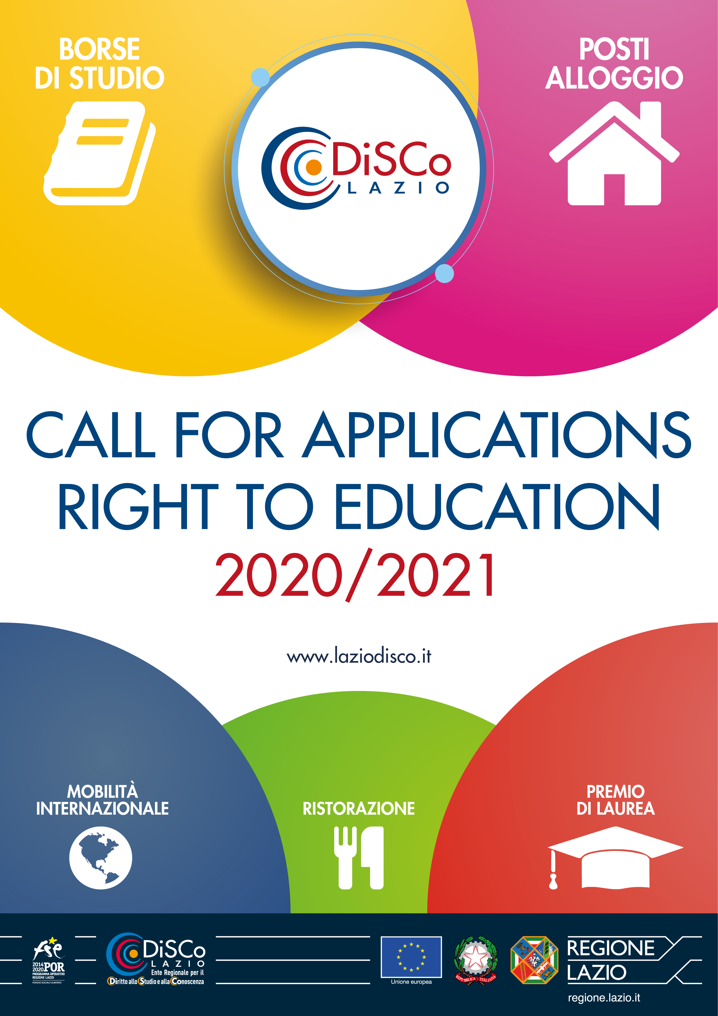 Cover Call for Applications - Right to Education 2020/2021